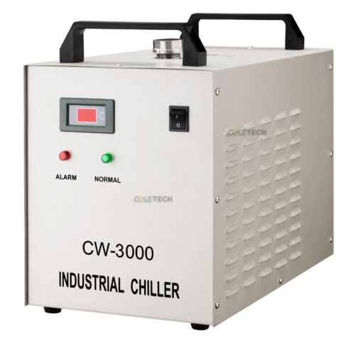 New pyrolysis water-cooled chiller CO2 laser tube CNC spindle CW-3000