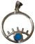 thumbnail 1 - Evil Eye Pendant Eyelash 925 Sterling Silver with Blue Opal