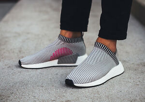 Image is loading Adidas-NMD-CS2-size-10-Grey-White-Pink-