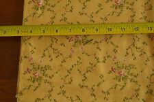 """By-the-Half-Yard, 42"""", Pink & Green Roses on Gold Quality Cotton, Moda, M4917"""