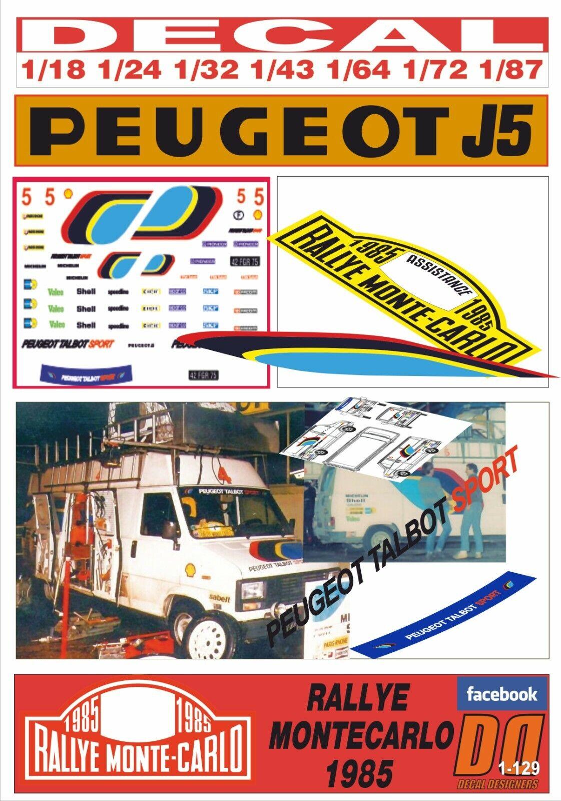 DECAL PEUGEOT J5 - PEUGEOT ASISTANCE rallyE MONTEbilLO 1985 (01)
