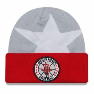 pretty nice 13ed2 362b4 Image is loading NEW-ERA-houston-rockets-NBA-tip-off-beanie-