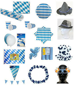 oktoberfest wiesn bayern bavaria raute blau weiss dekoration deko party set ebay. Black Bedroom Furniture Sets. Home Design Ideas
