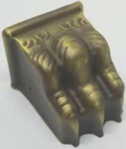Claw Feet Stamped Brass Medium Table Leg  Antique Brass