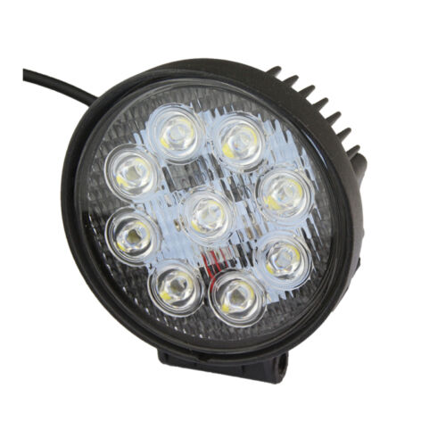 20PCS 27W 4inch Flood Round Offroad Work LED Light for Driving DRL SUV 4WD Boat