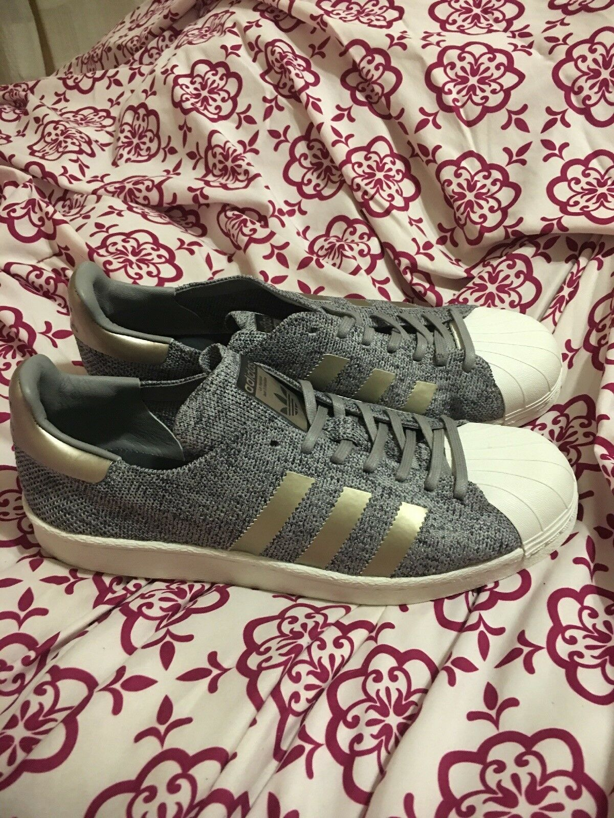 BB8973 New Adidas Superstar Primeknit Boost Solid Grey Charcoal shoes Sz 9.5