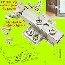 SOFT Close Gabinetto del cardine della porta IDRAULICA PER ALLUMINIO / Metal Frame Clip da 35mm