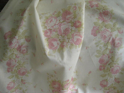 Yuwa Cottage Chic  Flower Basket Rose Lace Collection Pink Roses on Cream