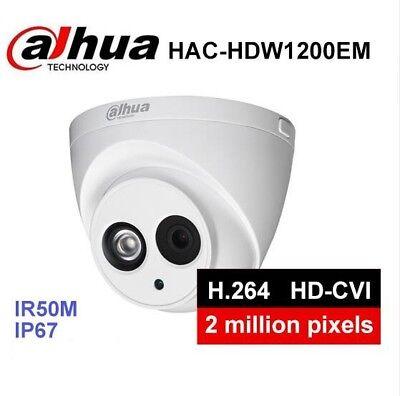 """Dahua HAC-HFW1400D 4MP HDCVI Smart IR80m IP67 Bullet Camera 1//3/"""" CMOSAluminium"""
