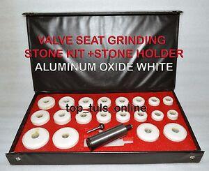 VALVE SEAT GRINDER STONES ZIRCON WHITE 20 PCS /& HOLDER KIT FOR SIOUX 80 GRIT