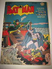 Batman #43 DC Golden Age Comic Book Penguin Cover Good Condition