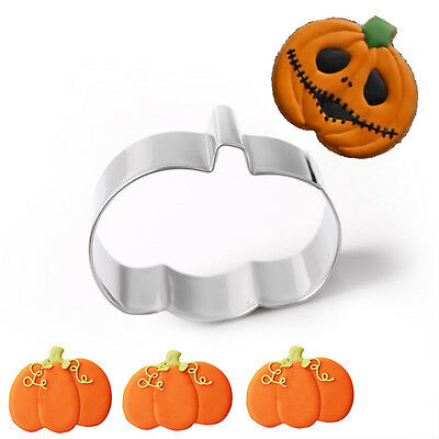 Halloween Stainless Steel Pumpkin Biscuit Cookie Pastry Fondant Mold Cutter Hot