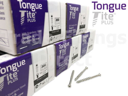 TONGUE-TITE PLUS STAINLESS STEEL TONGUE /& GROOVE FLOORING SCREWS PACKS OF 1000