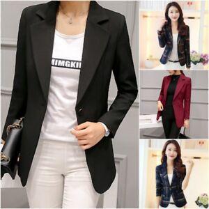 Women-039-s-Blazer-Suit-Office-Business-Coat-Lady-Long-Sleeve-Formal-Jacket-Outwear