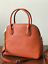 NWT-MICHAEL-KORS-MERCER-LARGE-DOME-LEATHER-SATCHEL-CROSSBODY-BAG-ORANGE thumbnail 2