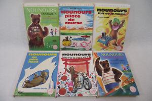 Lot de 6 NOUNOURS ORTF Bonne nuit petits Bibliotheque rose Nicolas & pimprenelle