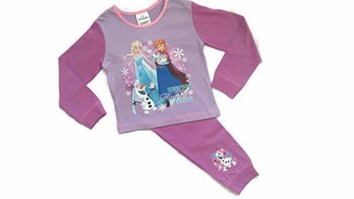 Disney Kids Official Frozen Long Pyjamas PJ/'s Set Childrens Girls Size 1-4 Years