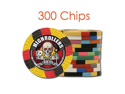 Custom Tri-Color Design Poker Chips w//Your Logo//Design in Full Color 300 chips