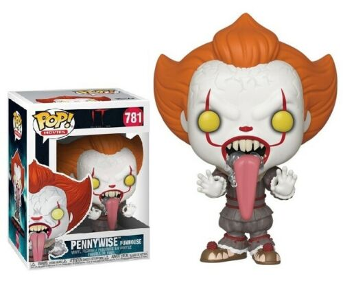 IT MOVIE Vinyl Figure #781 PENNYWISE FUNHOUSE FUNKO POP TONGUE
