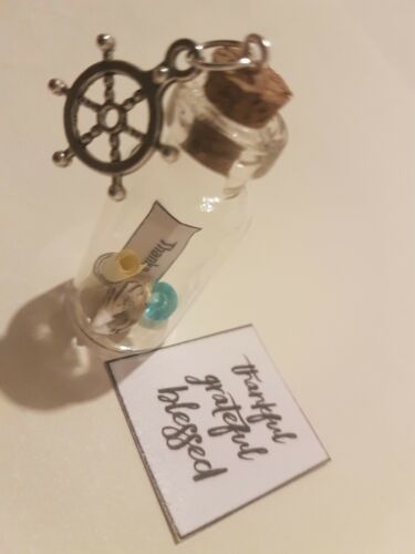 Message In A Bottle Personalised Thank You Gift mermaid Friend Teacher Scroll