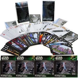 8 Decks Star Wars Weapons & Battles Playing Cards Collectible Tin Standard Size