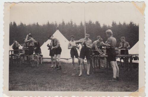 (F15829) Orig. Foto Breitenbrunn, Jungs im Zeltlager, Ferienlager, RAD 1940