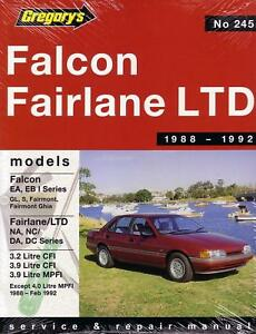 gregorys repair manual ford falcon ea eb fairlane na nc ebay rh ebay com au Cartoon Manual User Manual