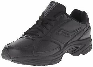 Saucony-Men-039-s-Shoes-Grid-Omni-Low-Top-Lace-Up-Walking-Shoes-Black-Size-9-0-59N