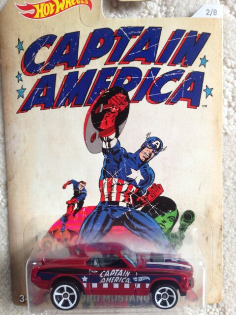 CAPTAIN AMERICA 2015 HOT WHEELS 70 FORD MUSTANG MACH 1