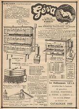 J0639 Gèva - Fourniture Avicole & Horticole - Pubblicità d'epoca - 1929 Old ad