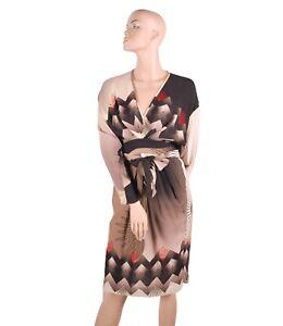 Womens-Ladies-Premium-Designer-Sarah-Arnett-Pattern-Printed-Tie-Up-Dress