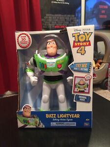 "NEW Disney-Pixar Toy Story 4 Buzz Lightyear Talking Action Figure 12"" Tall!"
