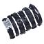 Fashion-Men-Women-Handmade-Genuine-Leather-Bracelet-Braided-Bangle-Wristband-Set miniatura 54