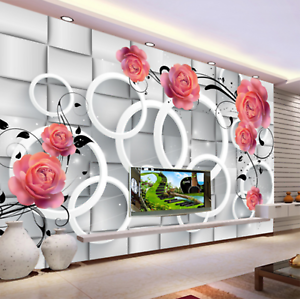 3D Circle Petal 459 Wallpaper Murals Wall Print Wallpaper Mural AJ WALL AU Kyra