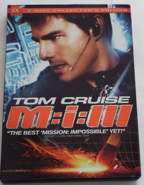 Mission: Impossible III (DVD, 2006, 2-Disc Set, Widescreen) TOM CRUISE