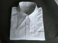 "Men's white 1940's vintage style WWII 16""spearpoint spear point collar shirt"