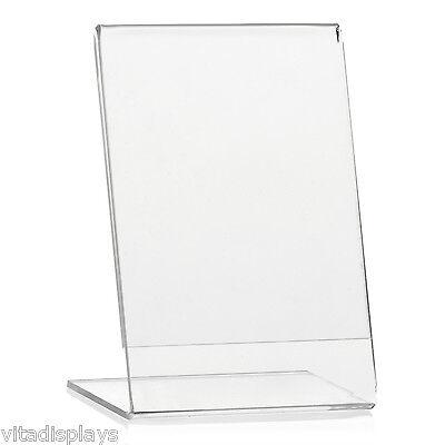 Tischaufsteller T-Ständer aus hochwertigem Plexiglas® DIN A4 Werbeaufsteller