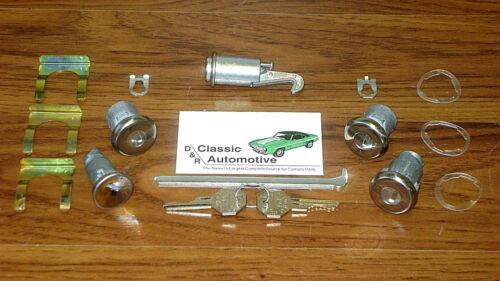Complete Locks Set GM Key Door Glove Box 16pc Camaro Nova Trunk Ignition