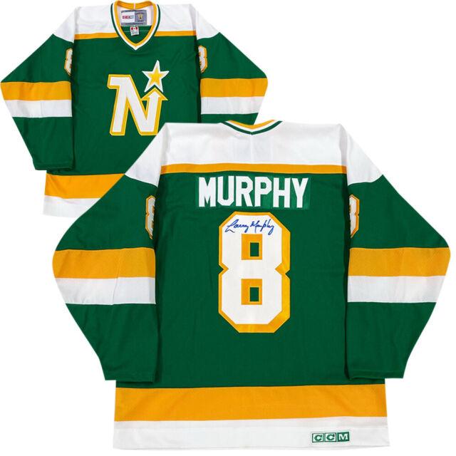 Larry Murphy Autographed Minnesota North Stars Vintage CCM Jersey