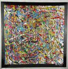 Phil Pierre - BUBBLE GUM 375 - New original abstract acrylic painting on board