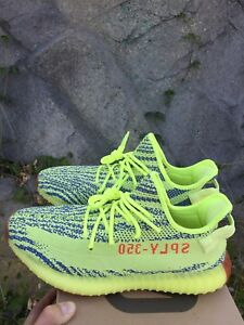 big sale 7d20b fb607 Details about ADIDAS YEEZY BOOST 350 V2 SEMI FROZEN YELLOW B37572 MENS SIZE  8.5