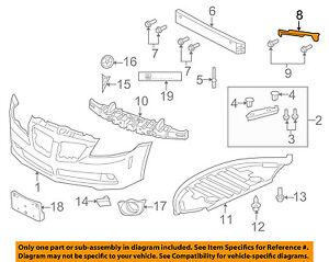 GM 92263445 BRACKET-FRT BPR FASCIA SUPT