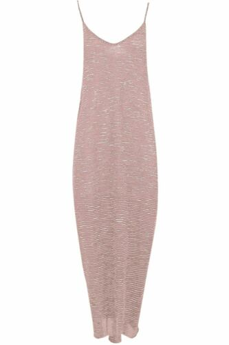 Womens Ladies Maxi Dress Camisole Strappy Lagenlook Italian Drape Baggy Dresses