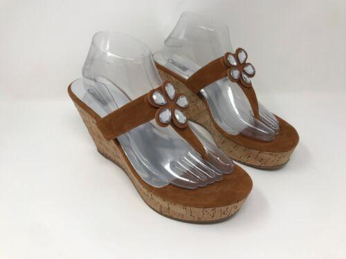 Light Brown Q11 New Women/'s Carlos Santana Wedge Sandals