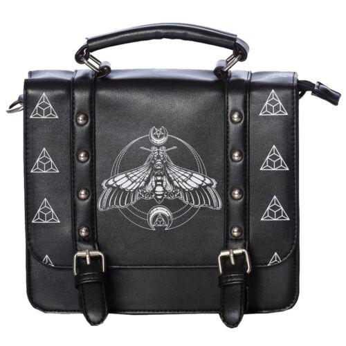 Banned  Gothic Okkult Goth Handtasche Schultertasche Moth Satchel Motte Nieten