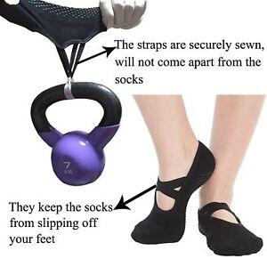 46499b755 Yoga Socks for Women Non Skid Socks with Grips Barre Socks Pilates ...