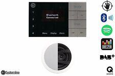 Systemline E100 Bluetooth DAB FM Speaker System With QI 65CW Bathroom Speaker