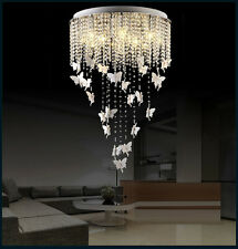1PCS Butterfly K9 Crystal Pendant Lamp Lighting Ceiling Light Chandelier Ceiling
