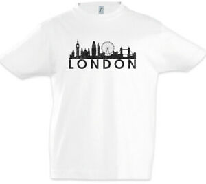 Skyline-London-Kinder-Jungen-T-Shirt-City-Fun-England-Britain-UK-GB-Stadt
