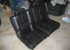 07-14 Chevy Tahoe Suburban GMC Yukon XL 3rd Row Seats Ebony Black Leather Third